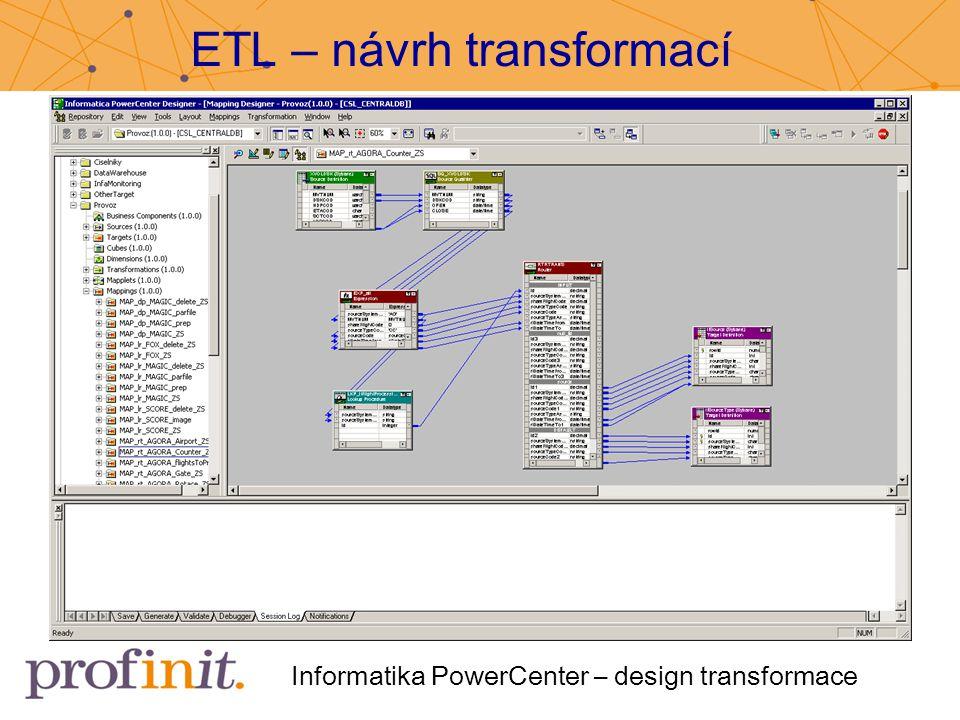 ETL – návrh transformací