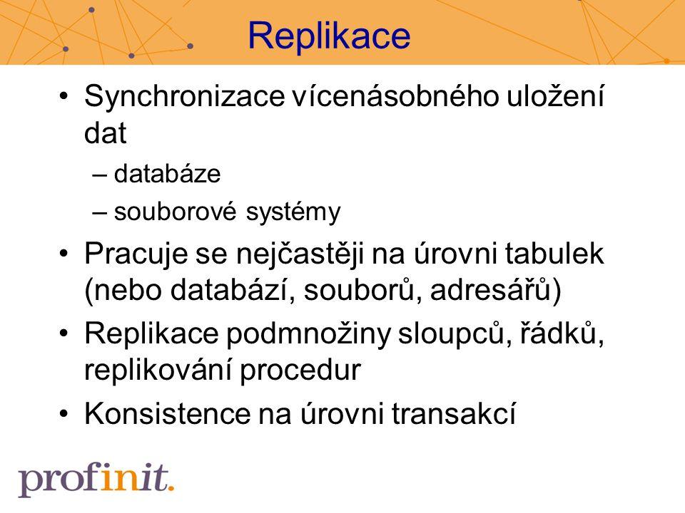 Replikace Synchronizace vícenásobného uložení dat