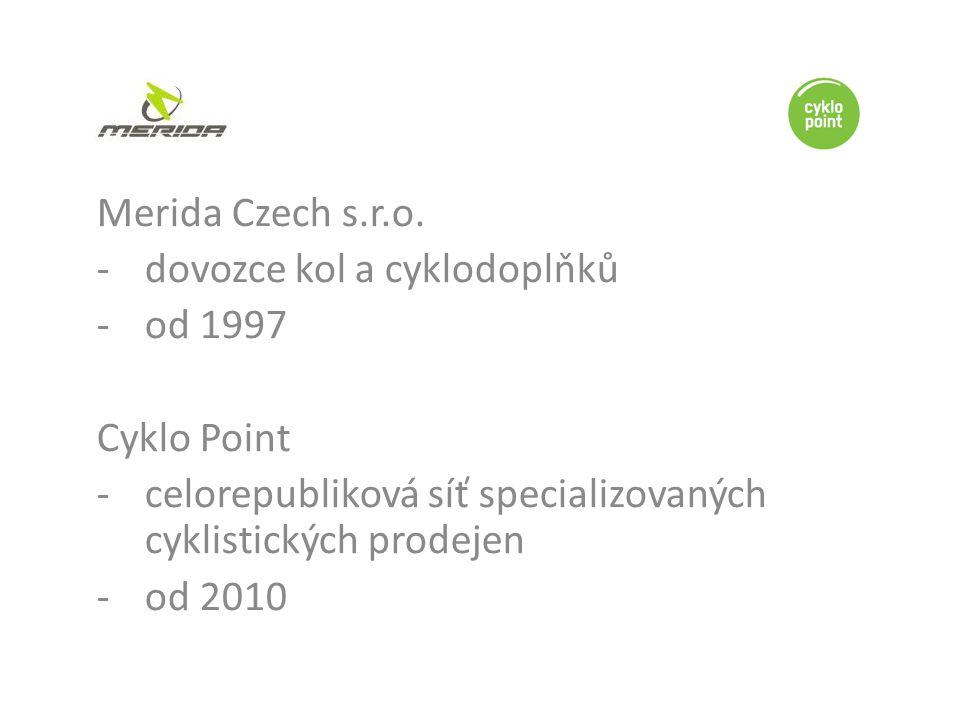 Merida Czech s.r.o. dovozce kol a cyklodoplňků. od 1997. Cyklo Point. celorepubliková síť specializovaných cyklistických prodejen.