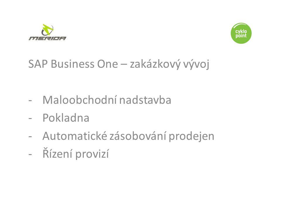 SAP Business One – zakázkový vývoj