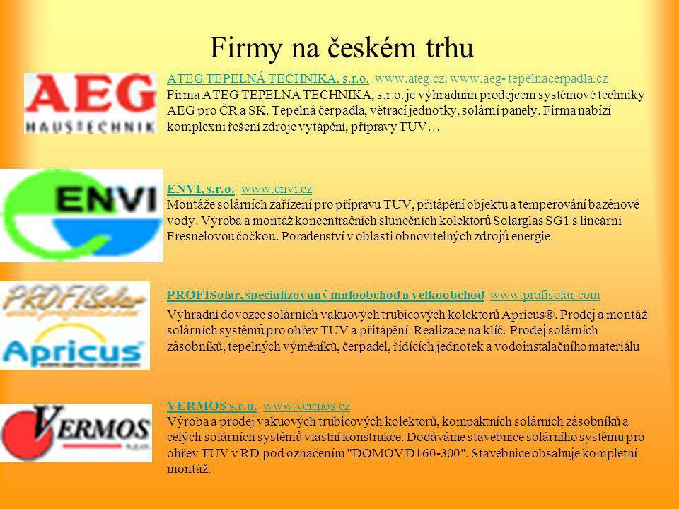Firmy na českém trhu