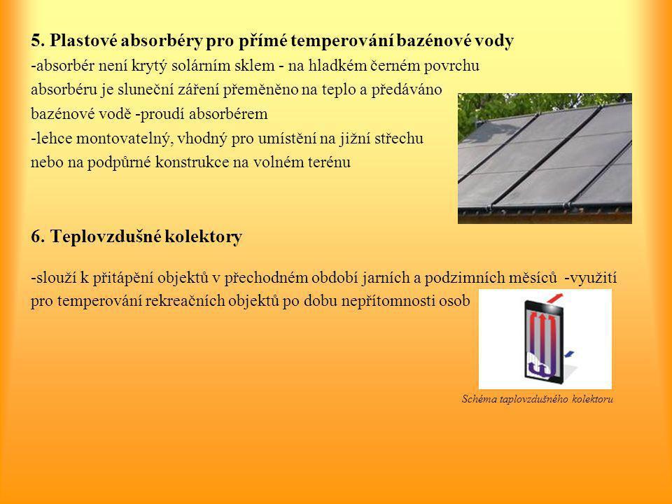5. Plastové absorbéry pro přímé temperování bazénové vody