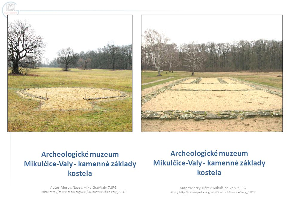 Archeologické muzeum Mikulčice-Valy - kamenné základy kostela