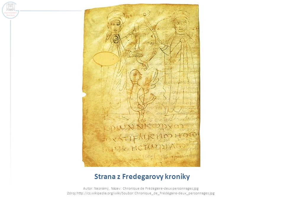 Strana z Fredegarovy kroniky