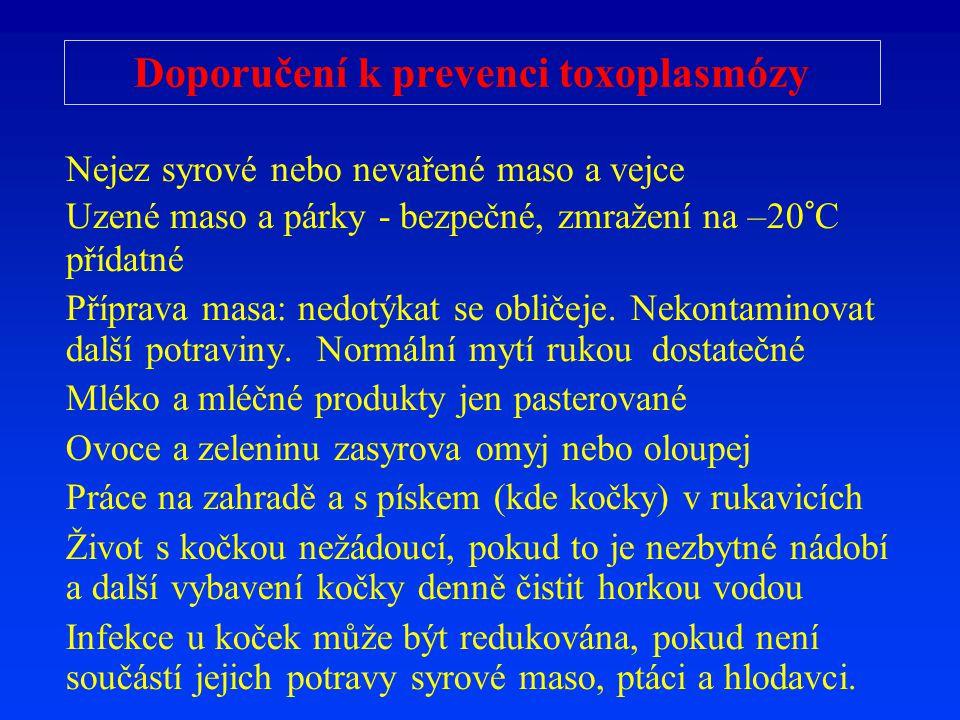 Doporučení k prevenci toxoplasmózy