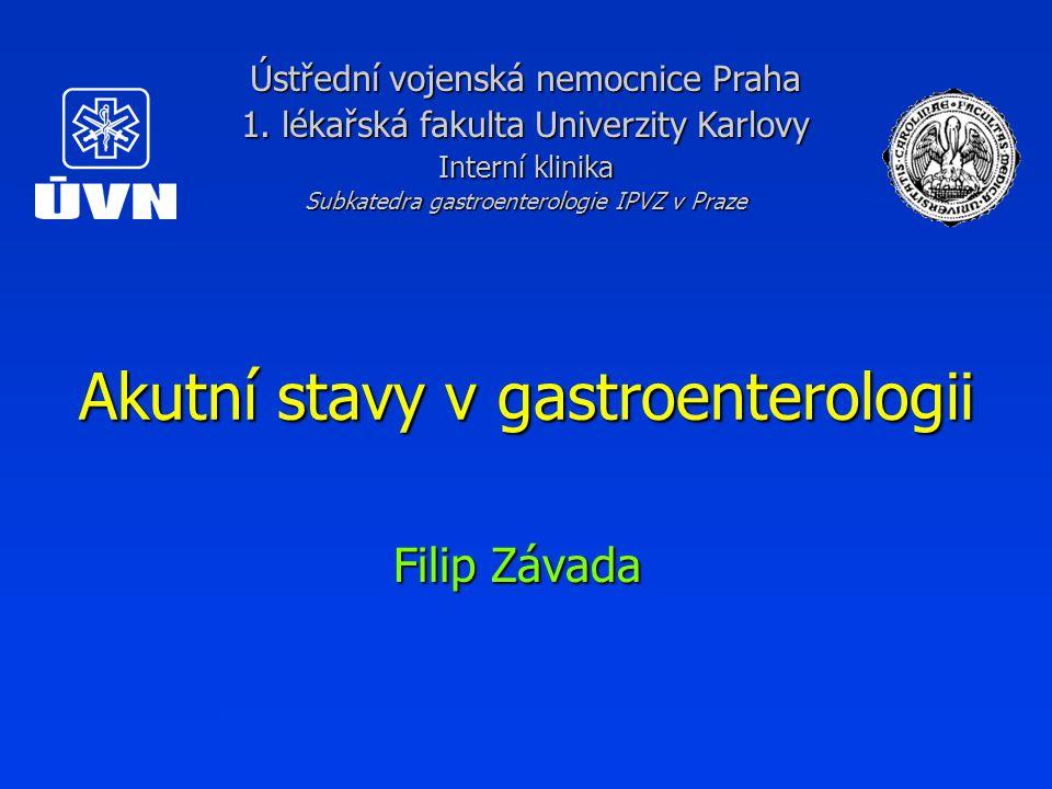 Akutní stavy v gastroenterologii