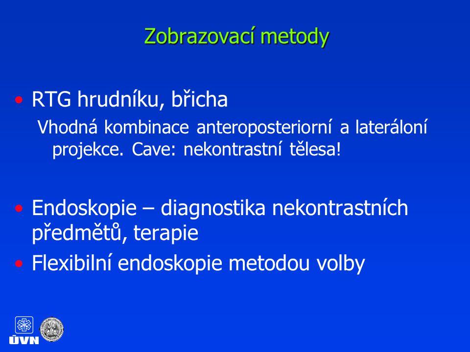 Endoskopie – diagnostika nekontrastních předmětů, terapie