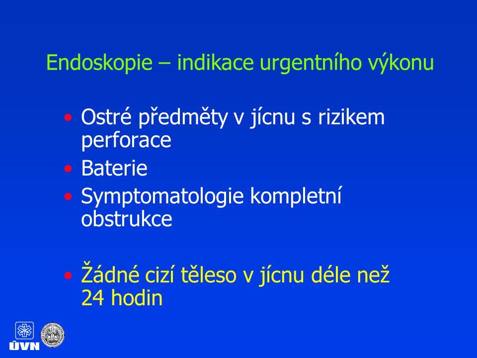 Endoskopie – indikace urgentního výkonu