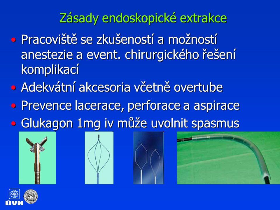 Zásady endoskopické extrakce