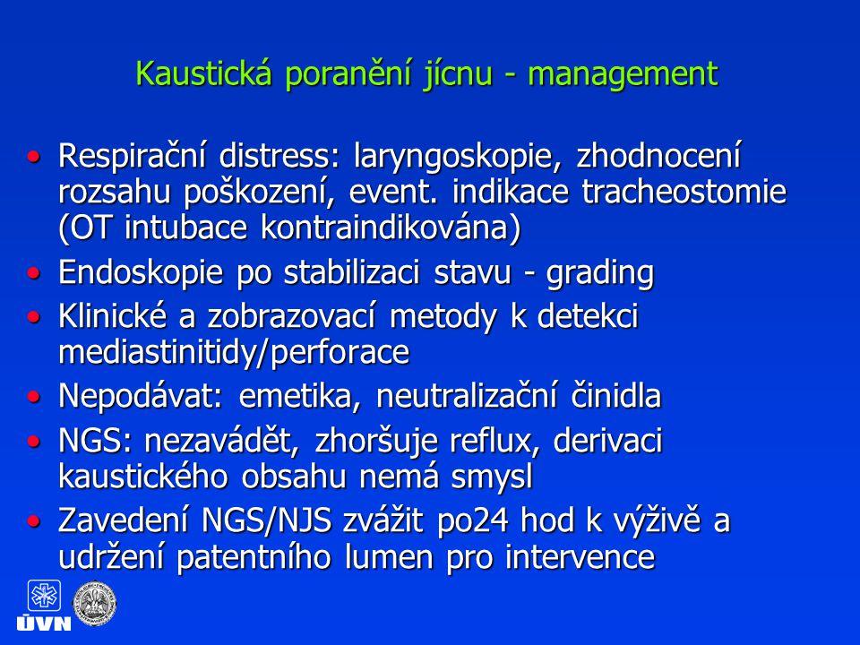 Kaustická poranění jícnu - management