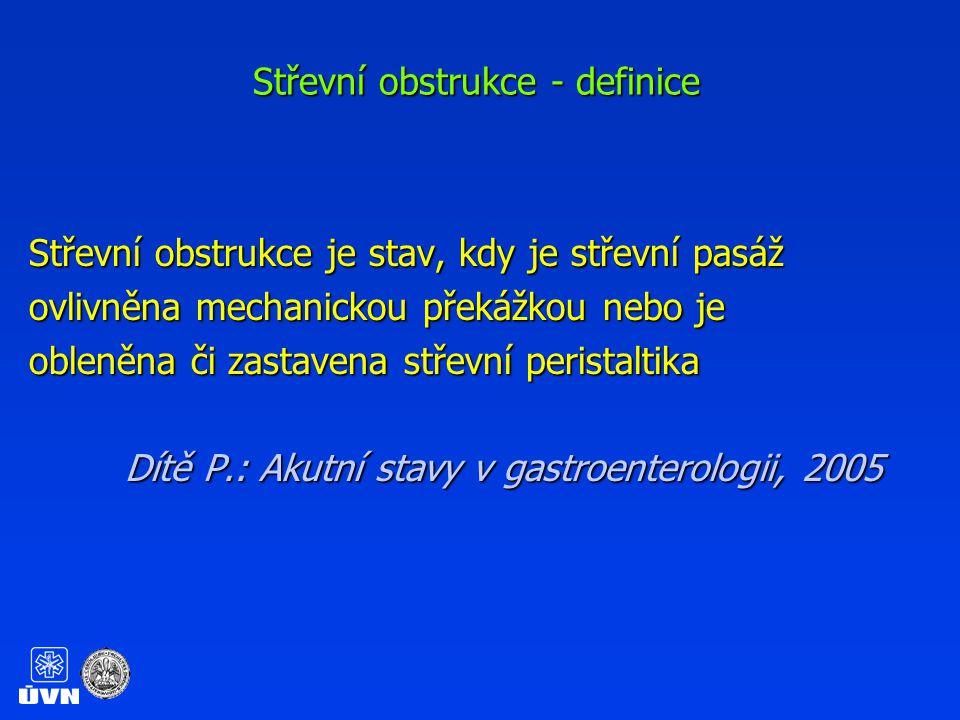Střevní obstrukce - definice
