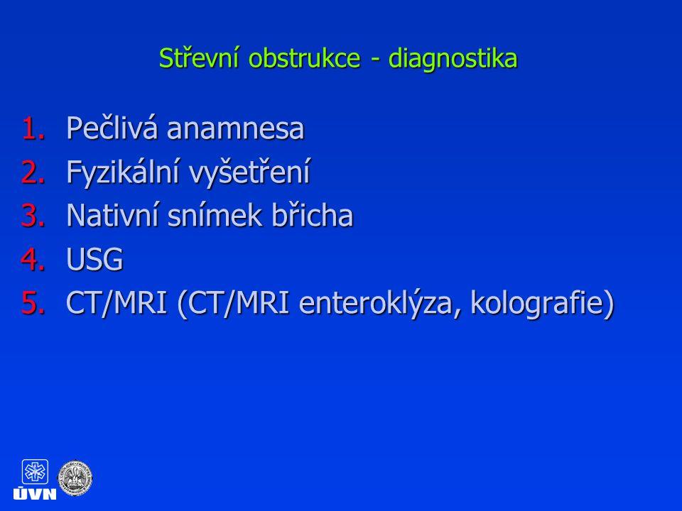 Střevní obstrukce - diagnostika