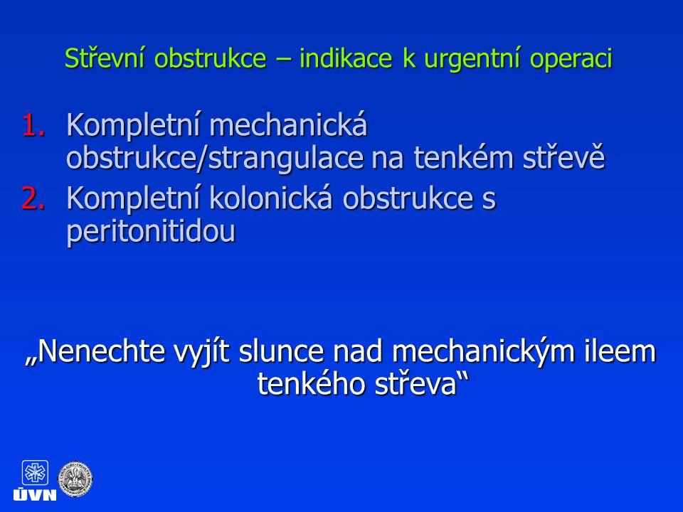 Střevní obstrukce – indikace k urgentní operaci