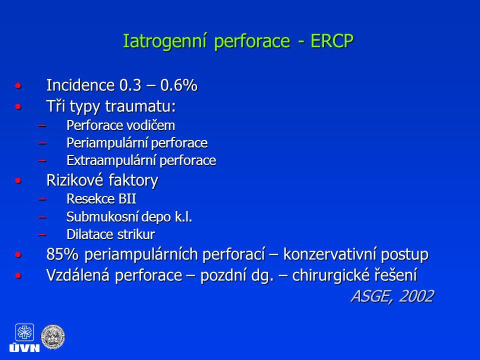 Iatrogenní perforace - ERCP