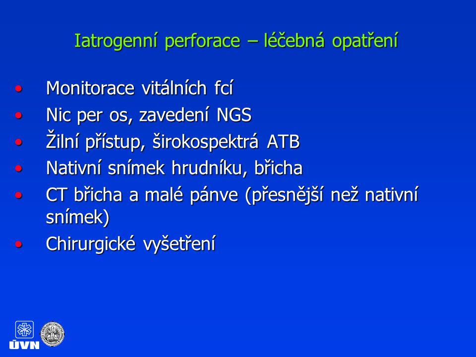 Iatrogenní perforace – léčebná opatření