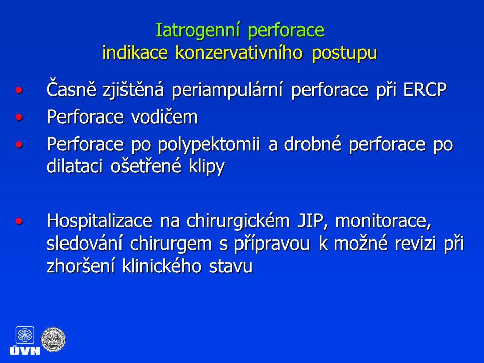 Iatrogenní perforace indikace konzervativního postupu