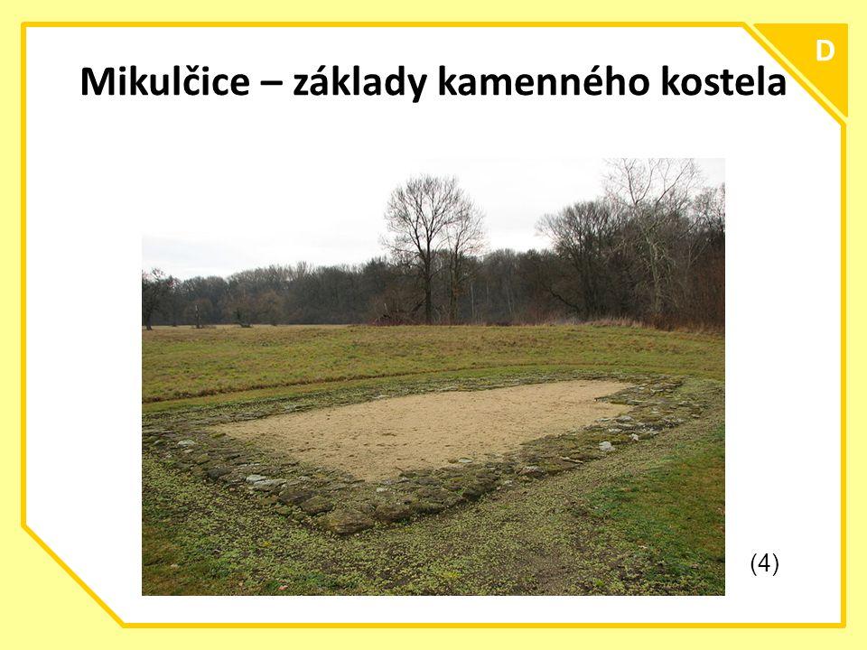 Mikulčice – základy kamenného kostela