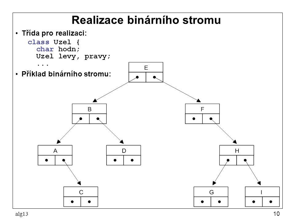 Realizace binárního stromu