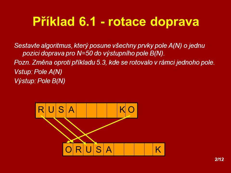 Příklad 6.1 - rotace doprava