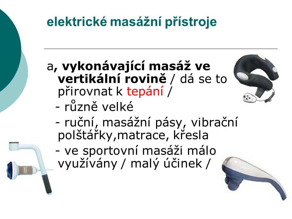 elektrické masážní přístroje