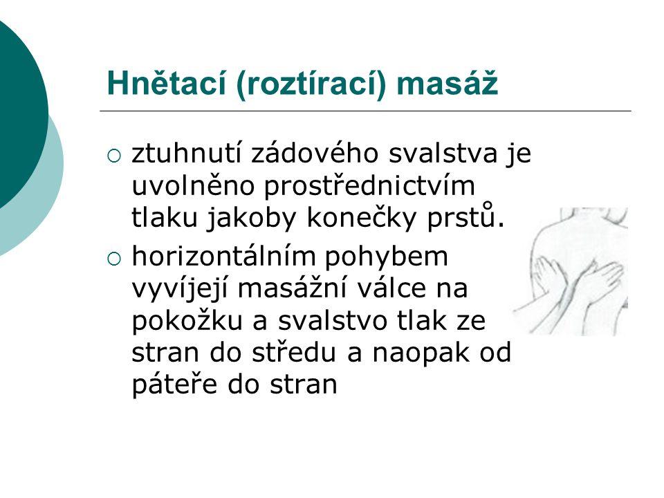 Hnětací (roztírací) masáž