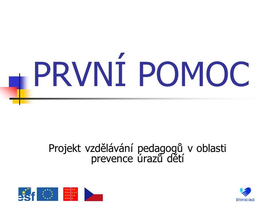 Projekt vzdělávání pedagogů v oblasti prevence úrazů dětí