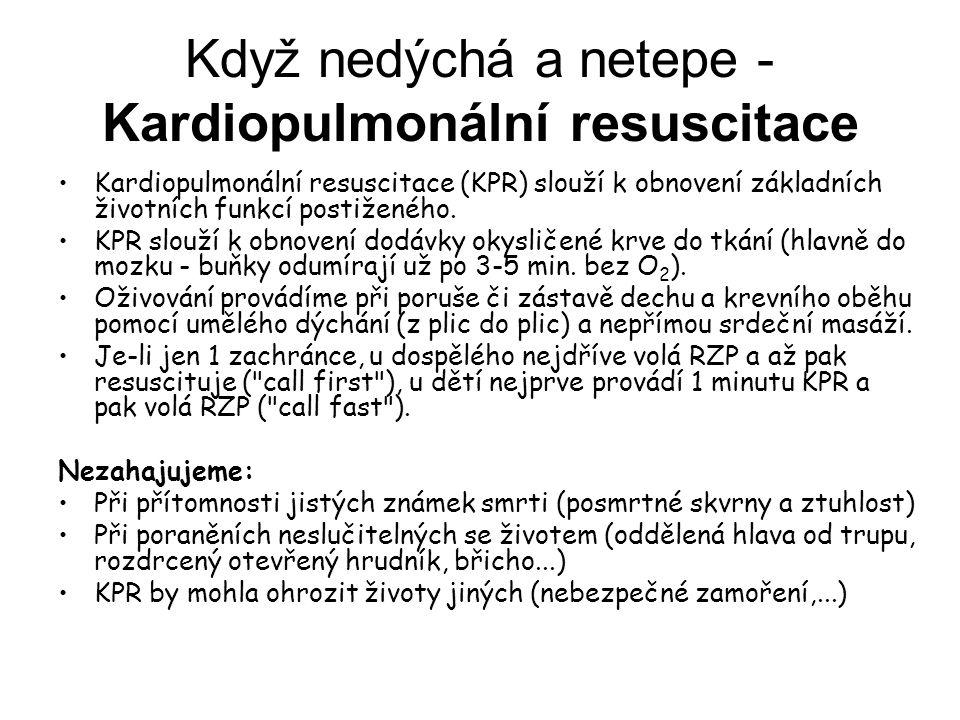 Když nedýchá a netepe - Kardiopulmonální resuscitace