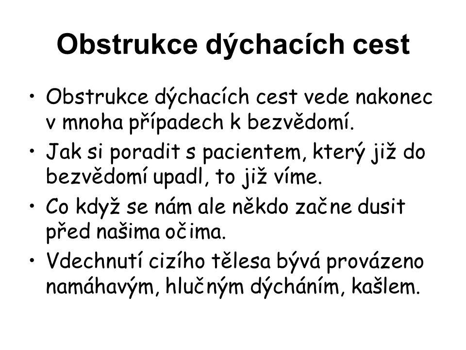 Obstrukce dýchacích cest