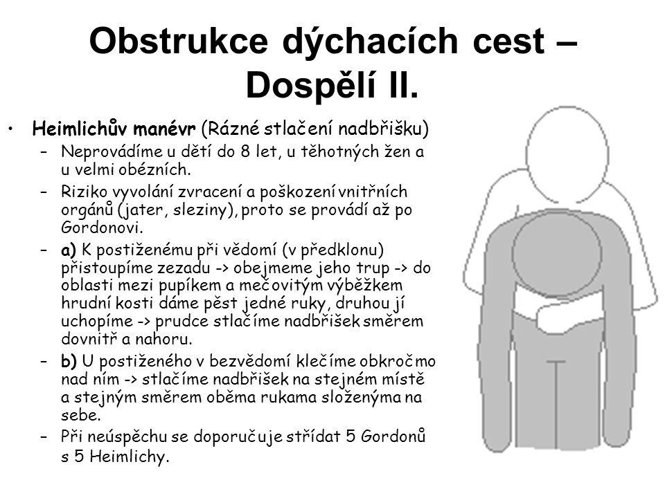 Obstrukce dýchacích cest – Dospělí II.