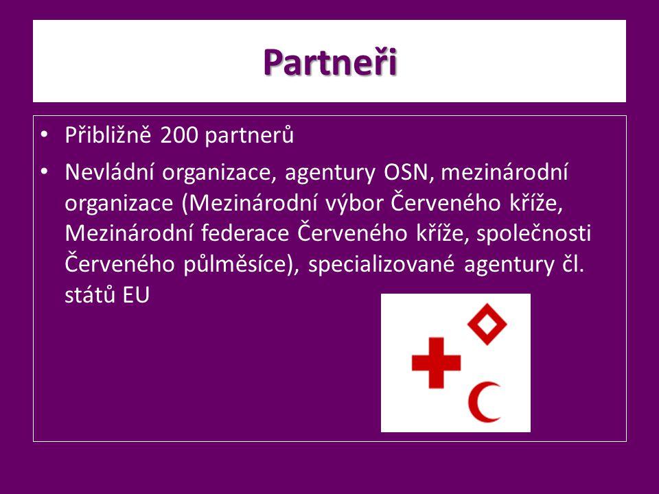 Partneři Přibližně 200 partnerů