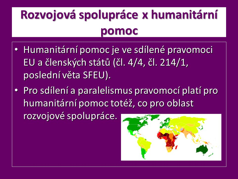 Rozvojová spolupráce x humanitární pomoc
