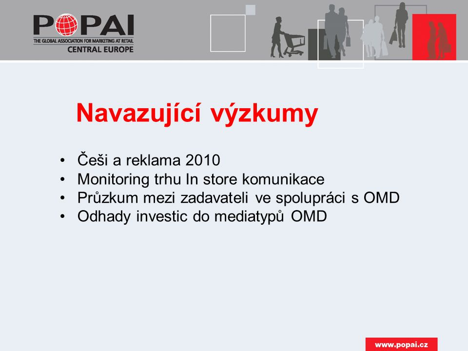 Navazující výzkumy Češi a reklama 2010