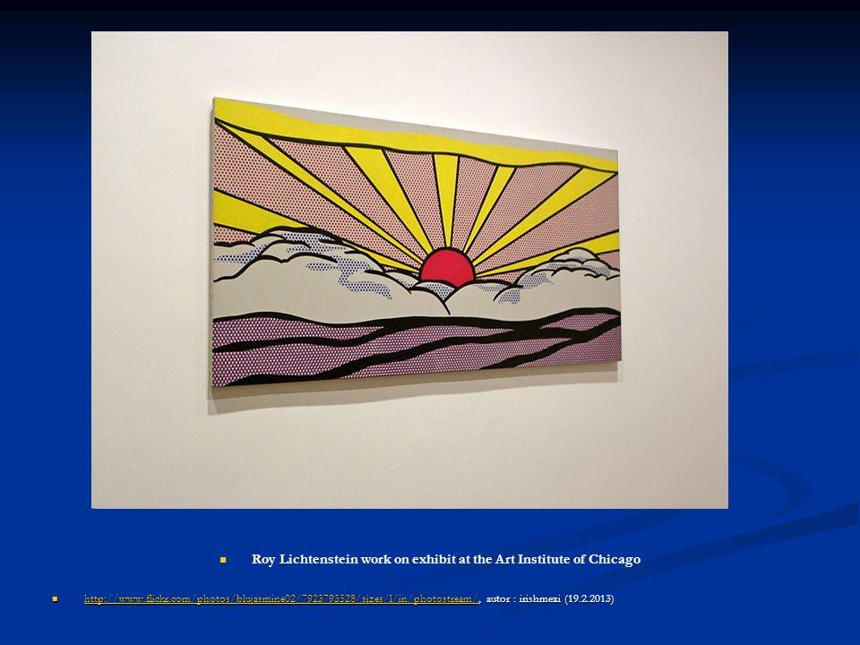 Roy Lichtenstein work on exhibit at the Art Institute of Chicago