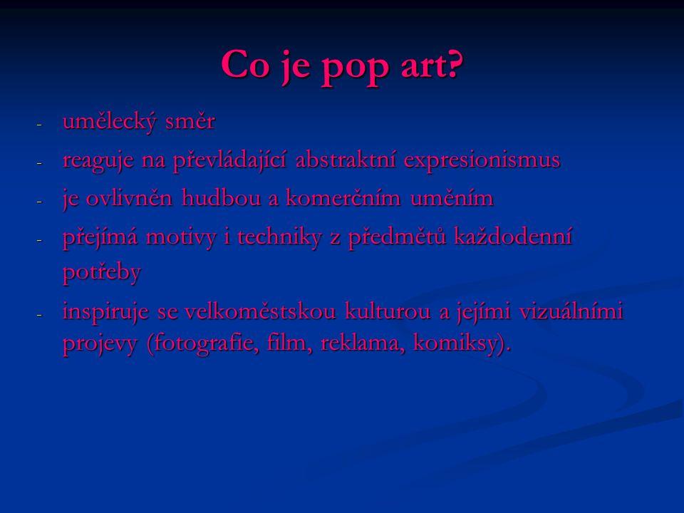Co je pop art umělecký směr
