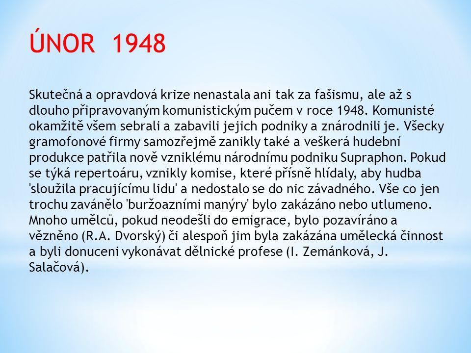 ÚNOR 1948 Skutečná a opravdová krize nenastala ani tak za fašismu, ale až s dlouho připravovaným komunistickým pučem v roce 1948.