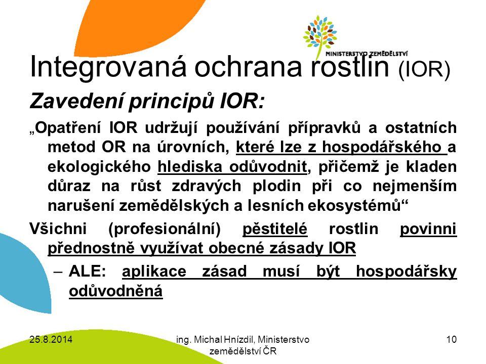 Integrovaná ochrana rostlin (IOR)