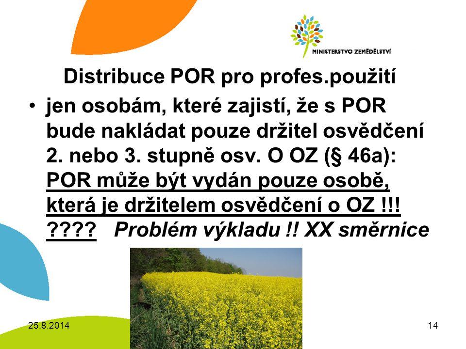 Distribuce POR pro profes.použití