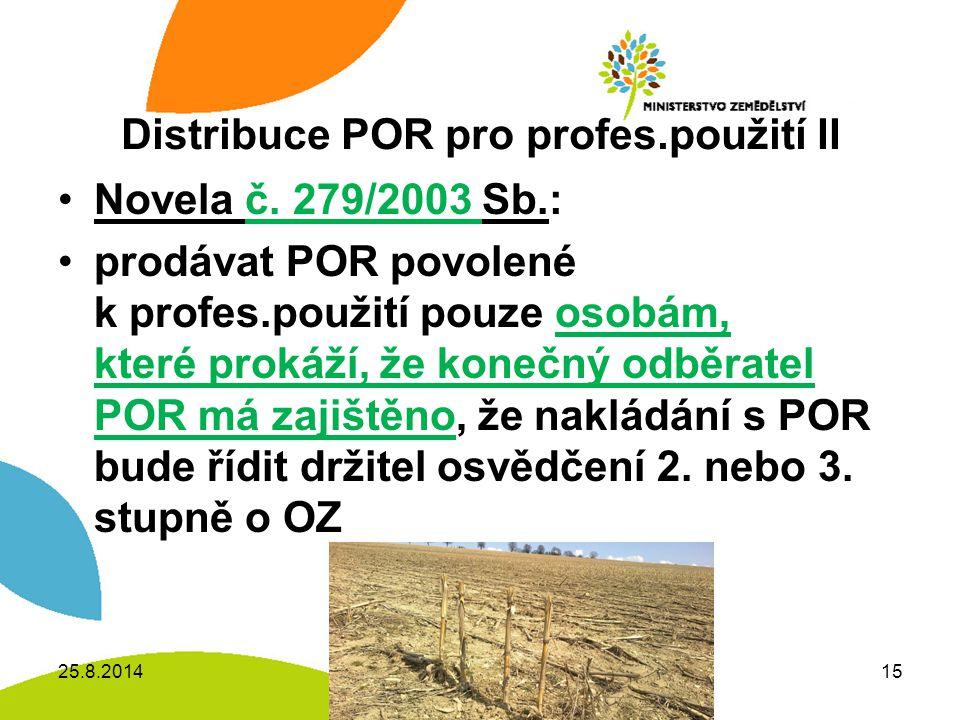 Distribuce POR pro profes.použití II