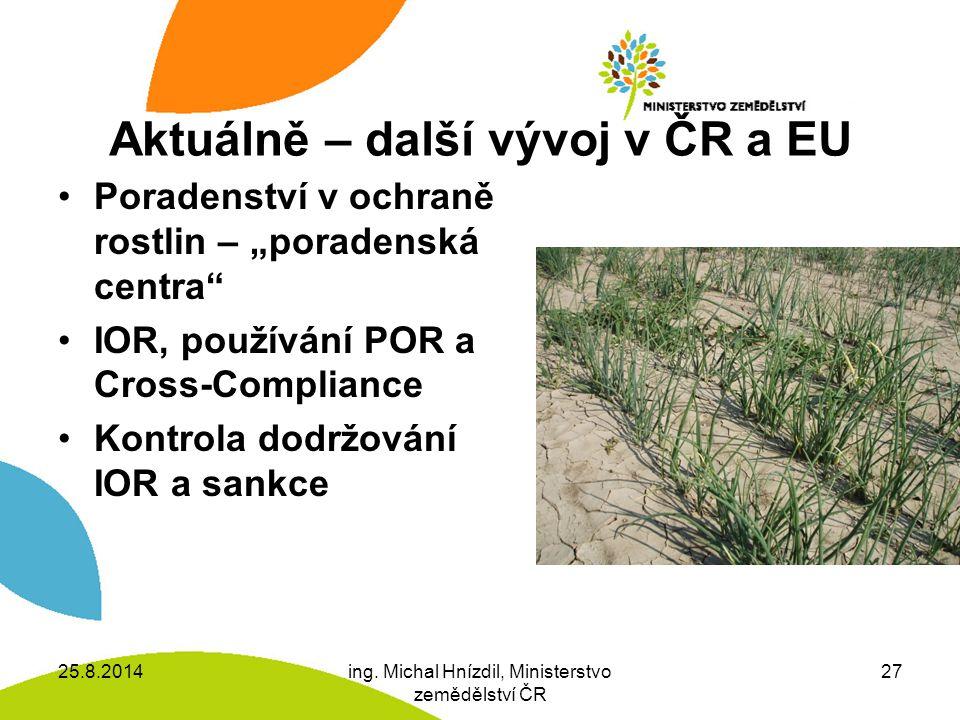Aktuálně – další vývoj v ČR a EU