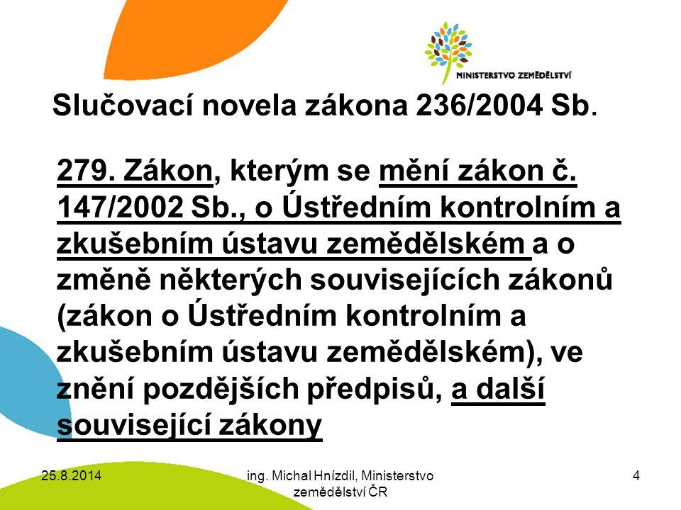 Slučovací novela zákona 236/2004 Sb.