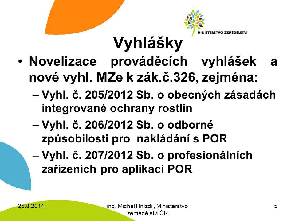 ing. Michal Hnízdil, Ministerstvo zemědělství ČR