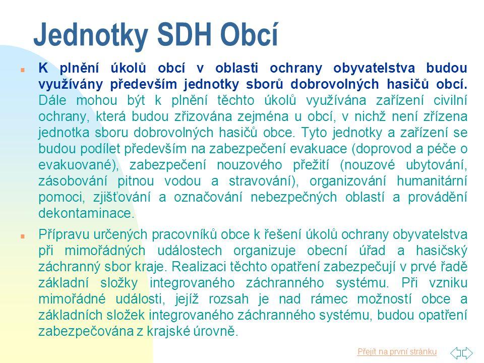 Jednotky SDH Obcí