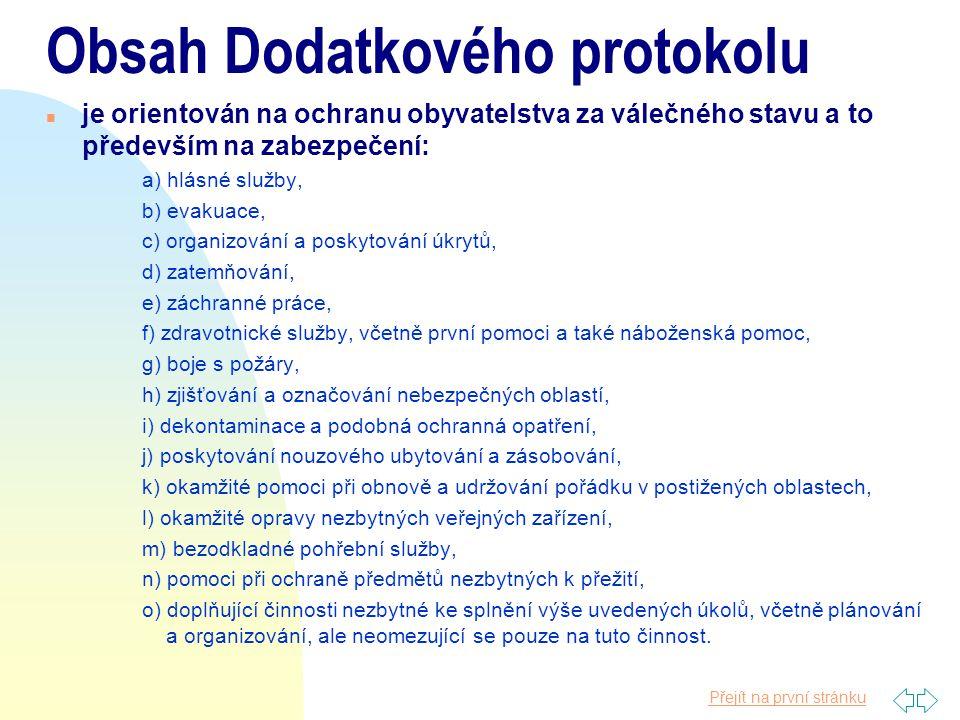 Obsah Dodatkového protokolu