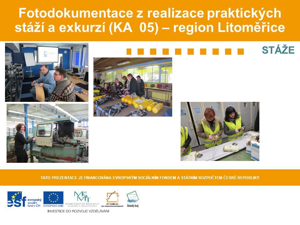 Fotodokumentace z realizace praktických stáží a exkurzí (KA 05) – region Litoměřice