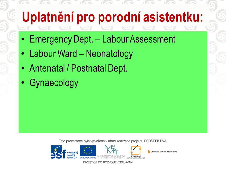 Uplatnění pro porodní asistentku: