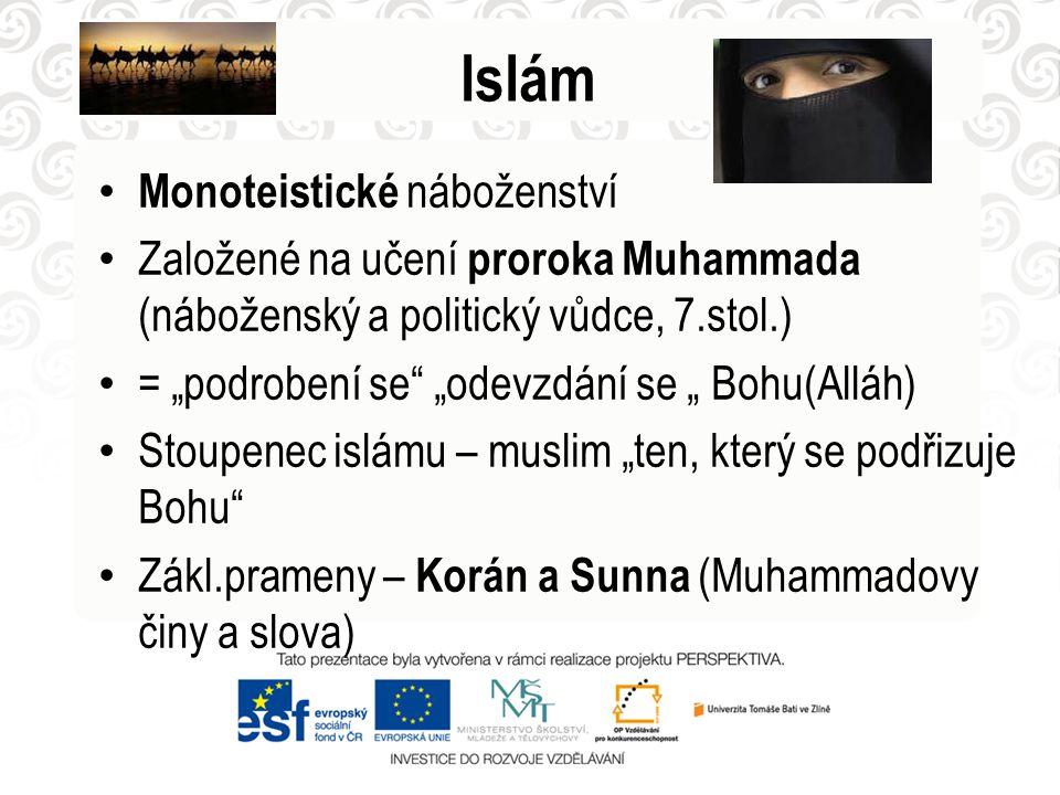Islám Monoteistické náboženství