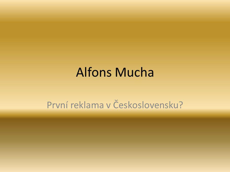 První reklama v Československu