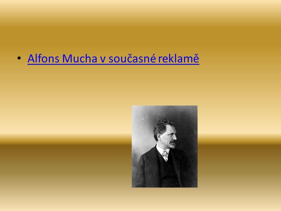 Alfons Mucha v současné reklamě