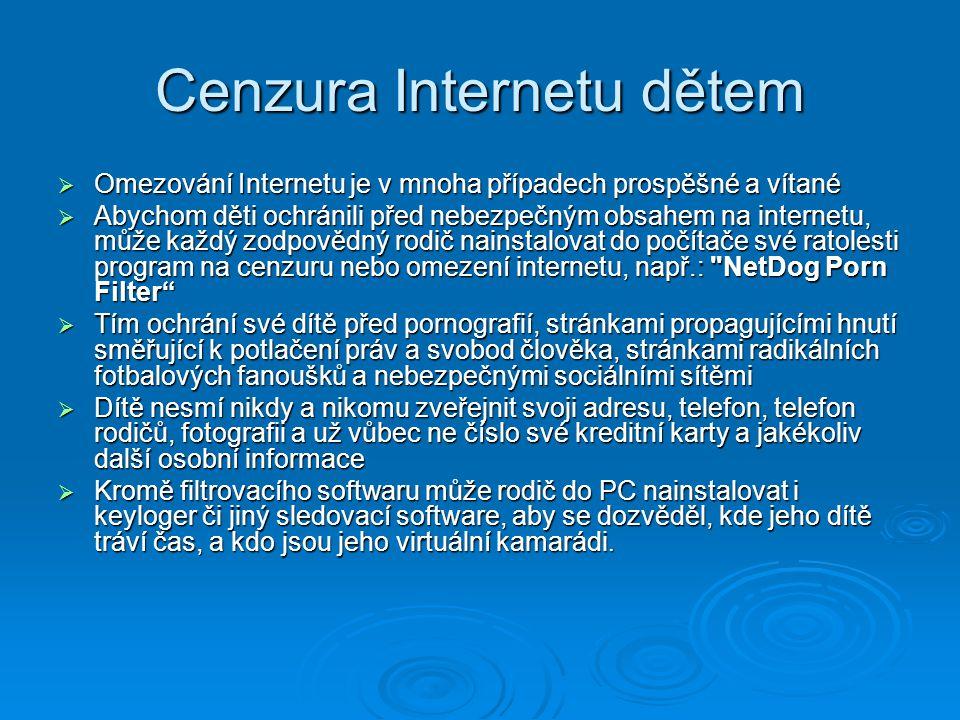 Cenzura Internetu dětem