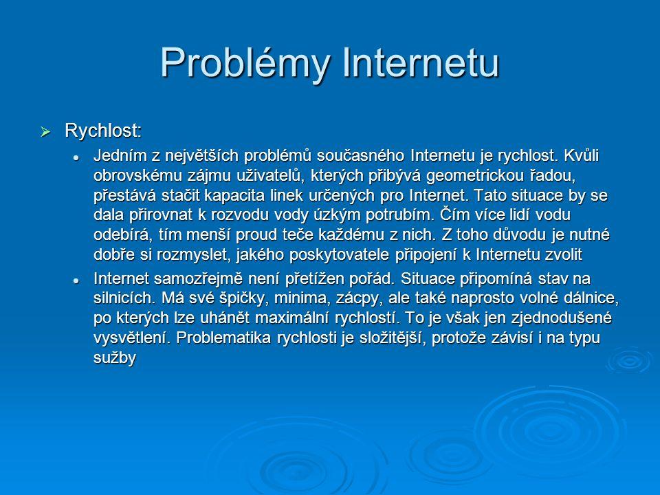 Problémy Internetu Rychlost: